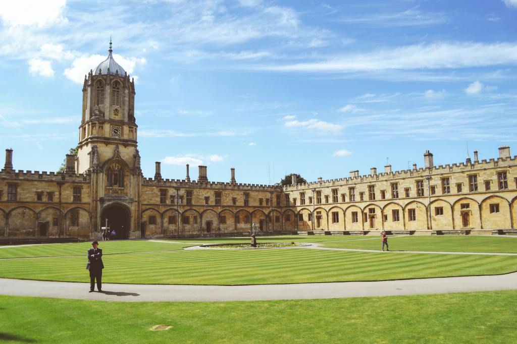Christ Church College, Oxford in the summer.